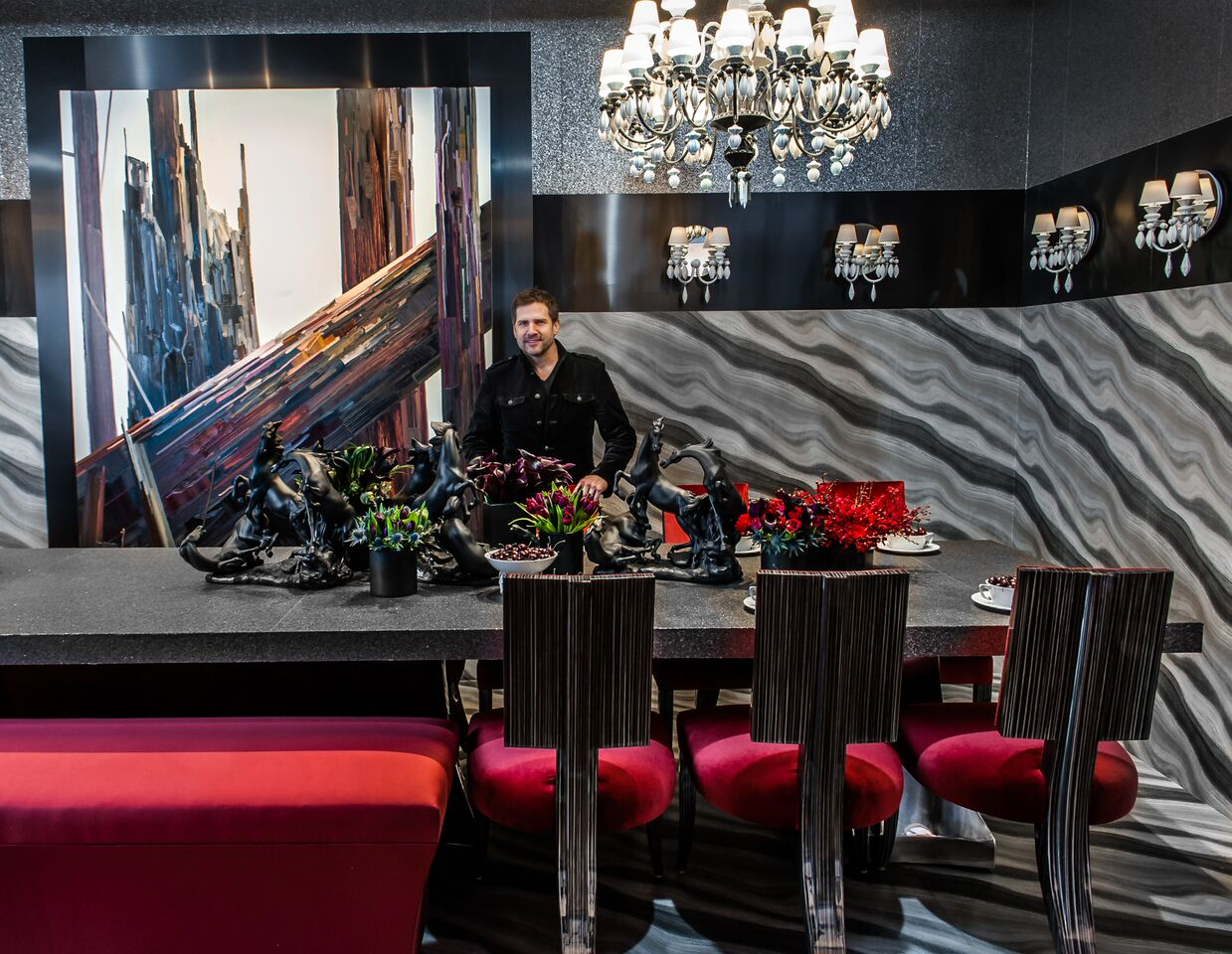 Top Design Talent Darrin Varden At The Lavish Table He Created For DIFFA,  The Design Industries Foundation Fighting AIDS Which Is One Of The  Countryu0027s ...