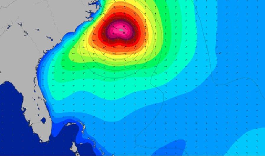 Hurricane Florence Swell Landfall