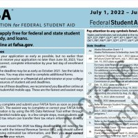2022-2023 FAFSA GOES LIVE TODAY