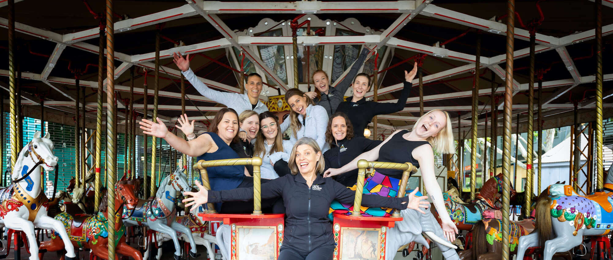 Higher Function Physio & Pilates team on carousel canberra city