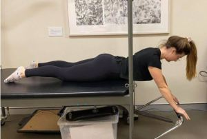 Thoracic Extension on Pilates Cadillac