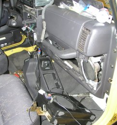retroactively installing a factory sub in your wrangler jeep tj center console subwoofer wiring jeep tj subwoofer wiring [ 1920 x 2560 Pixel ]