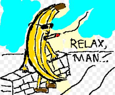 Relax with banana