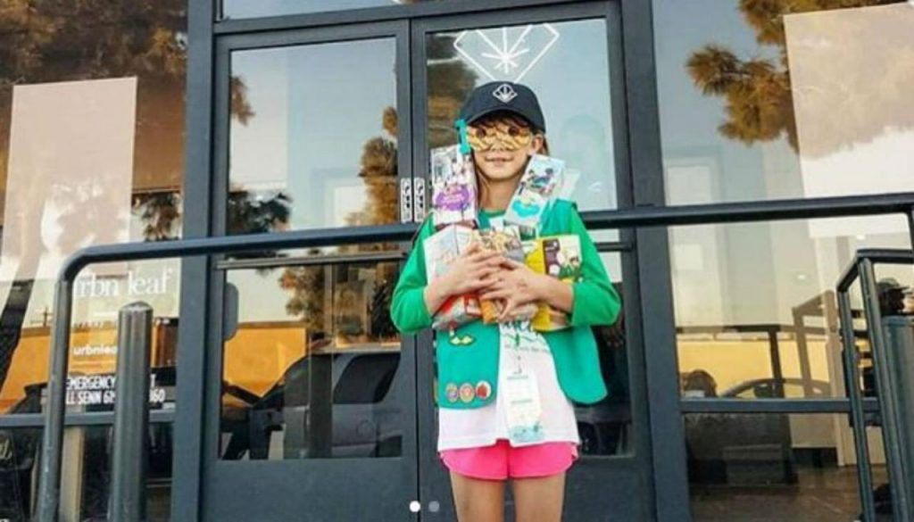 Girl Scouts Girl Sells Over 300 Boxes Of Cookies Outside Dispensary