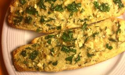 cannabis cheese stuffed garlic bread