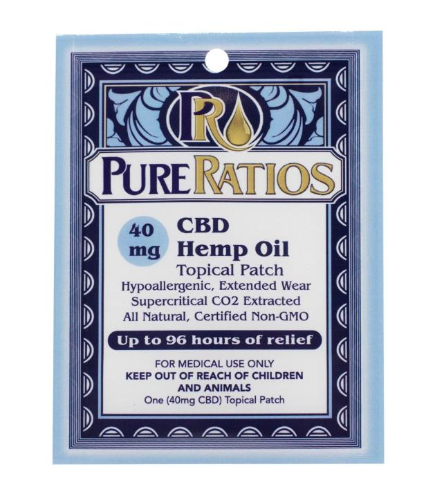 CBD Topical Hemp Patches by Pure Ratios