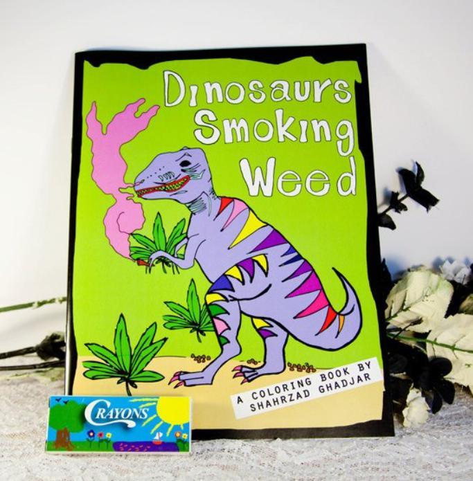 Dinosaur Weed Colouring Book