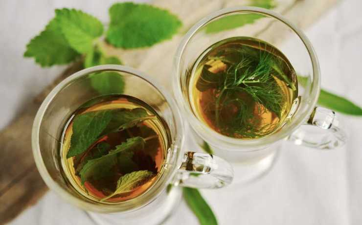 Weed and mint tea