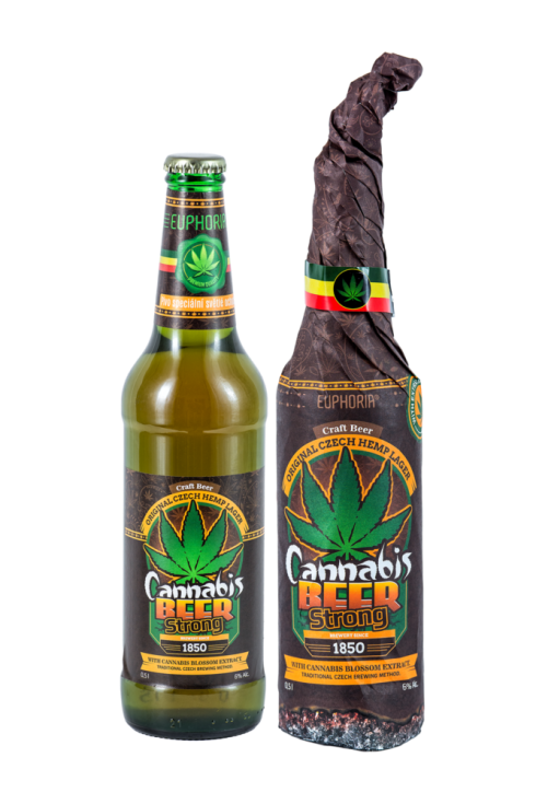Cannabis Infused Beer bottle