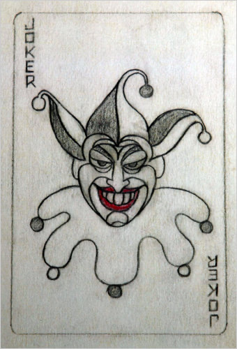 Original concept drawing of the Joker by Jerry Robinson