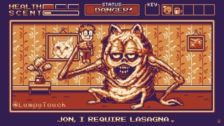 Garfield Gameboy'd