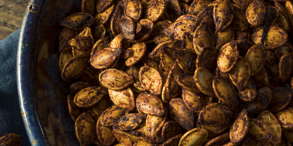 Spicy Roasted Pumpkin Seeds With Cannabis-Infused Coconut Oil