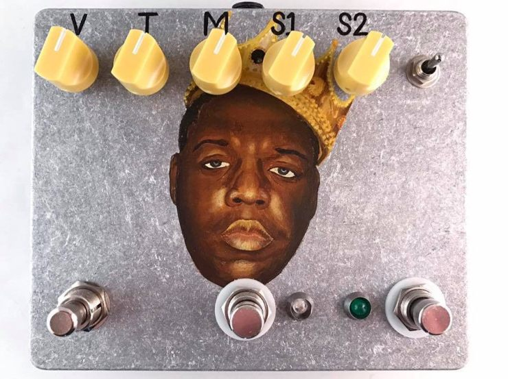 Biggie Smalls Pedal Enclosure. Hand Painted by Shannon Ratajski