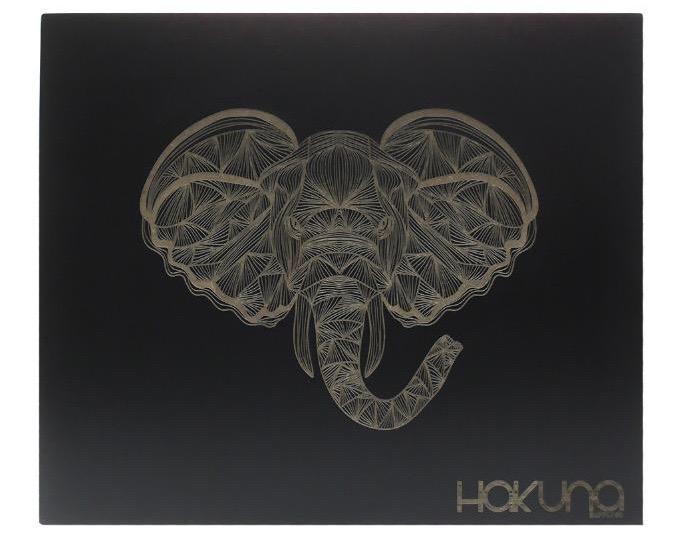 Hakuna Original Black Box – Geometric Elephant