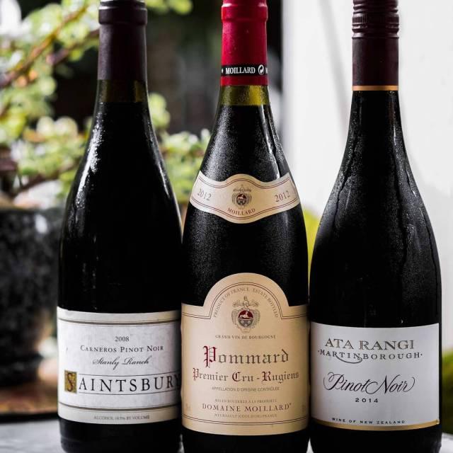 Three different Pinot Noir wines from three different regions Despitehellip