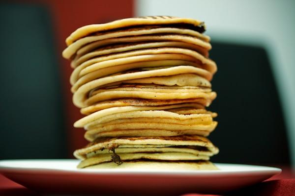 Mini-Pancakes mit Ahornsirup
