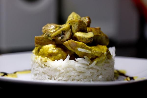 Curry-Lendchen mit Champignons