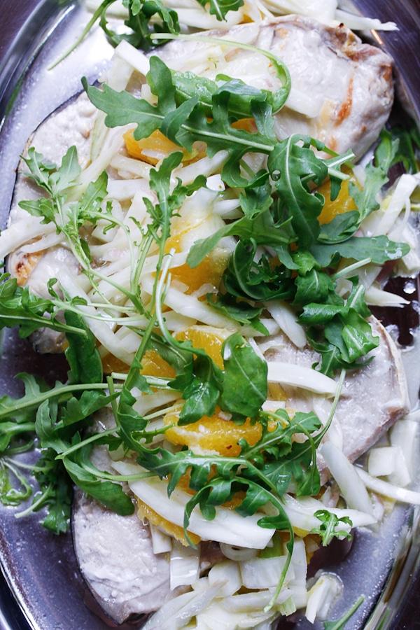 Schwertfischsteaks mit Orangen-Fenchel-Salat