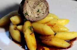 Rouladen mit Minze-Frischkäse-Füllung