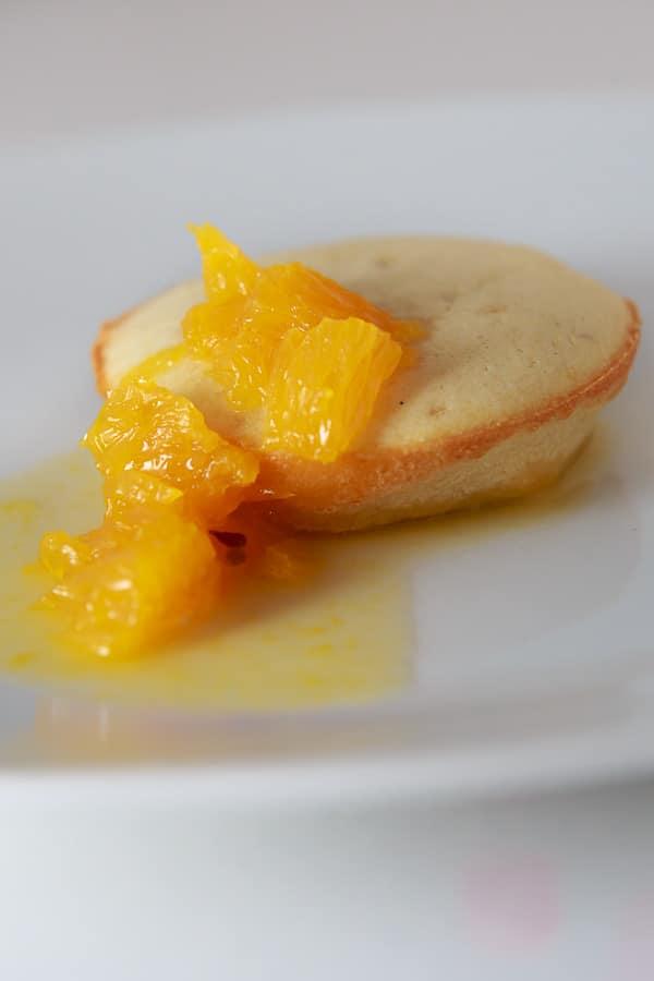 Pancakes aus dem Ofen mit Sauce Suzette