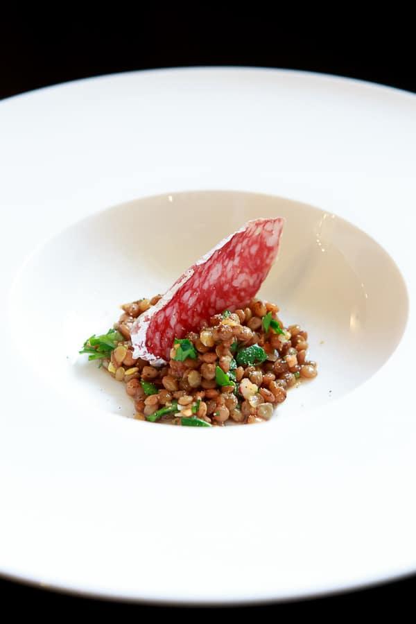 Puy-Linsen-Salat mit Saucisson