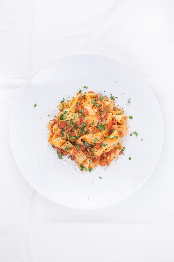 Pasta mit Chorizo-Bolognese
