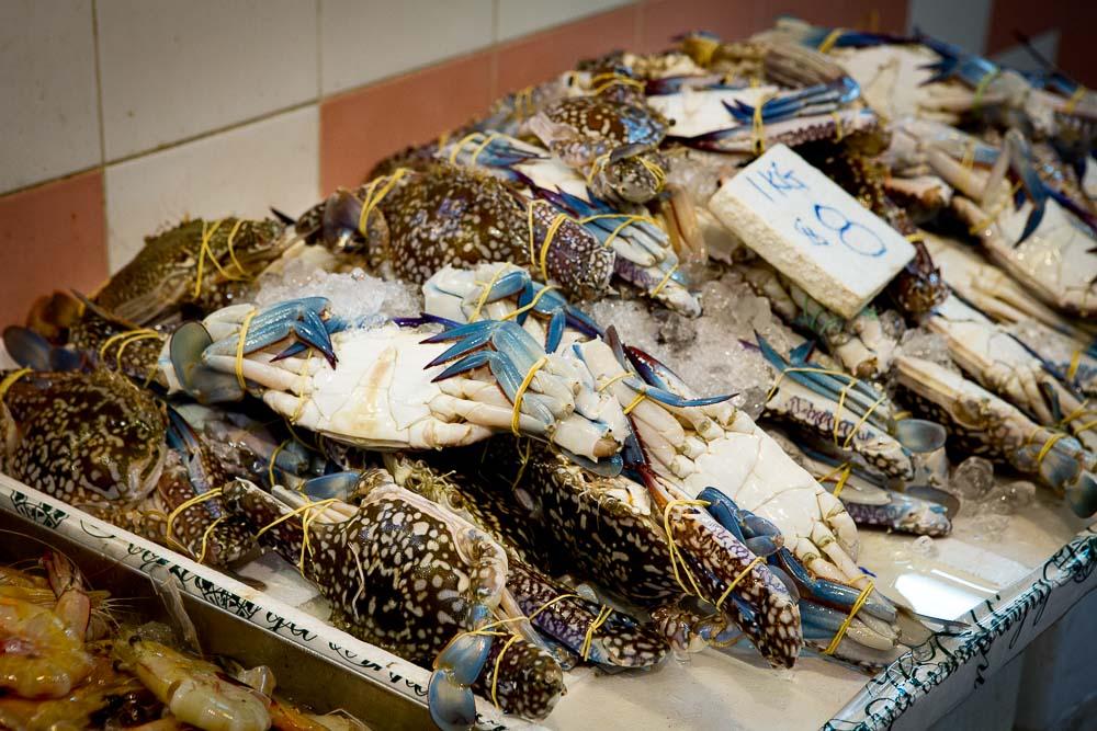 Krabben, die wenig Fleisch besitzen und nur für Fonds benutzt werden