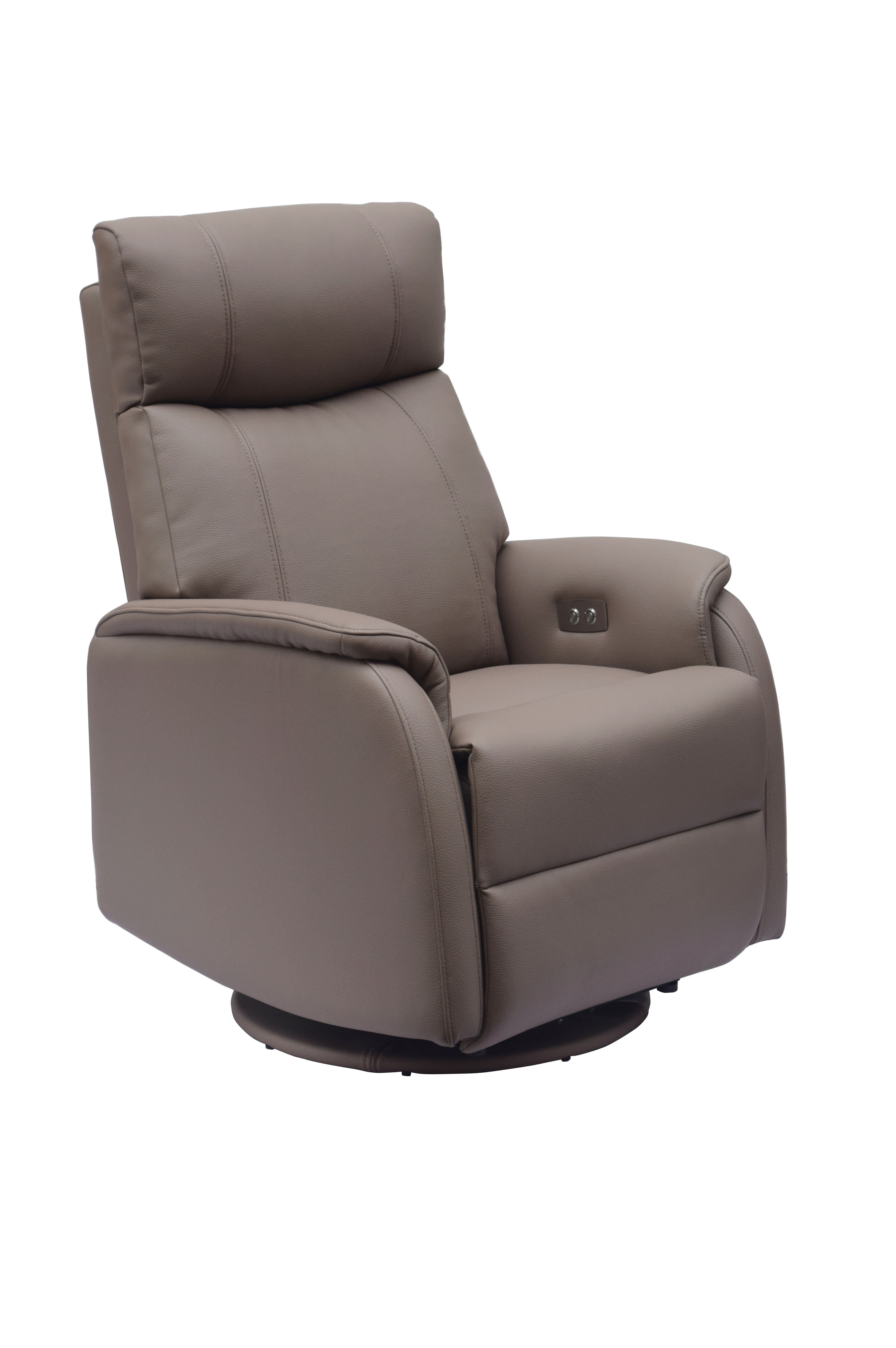 grey leather recliner chair uk as seen on tv cover electric small