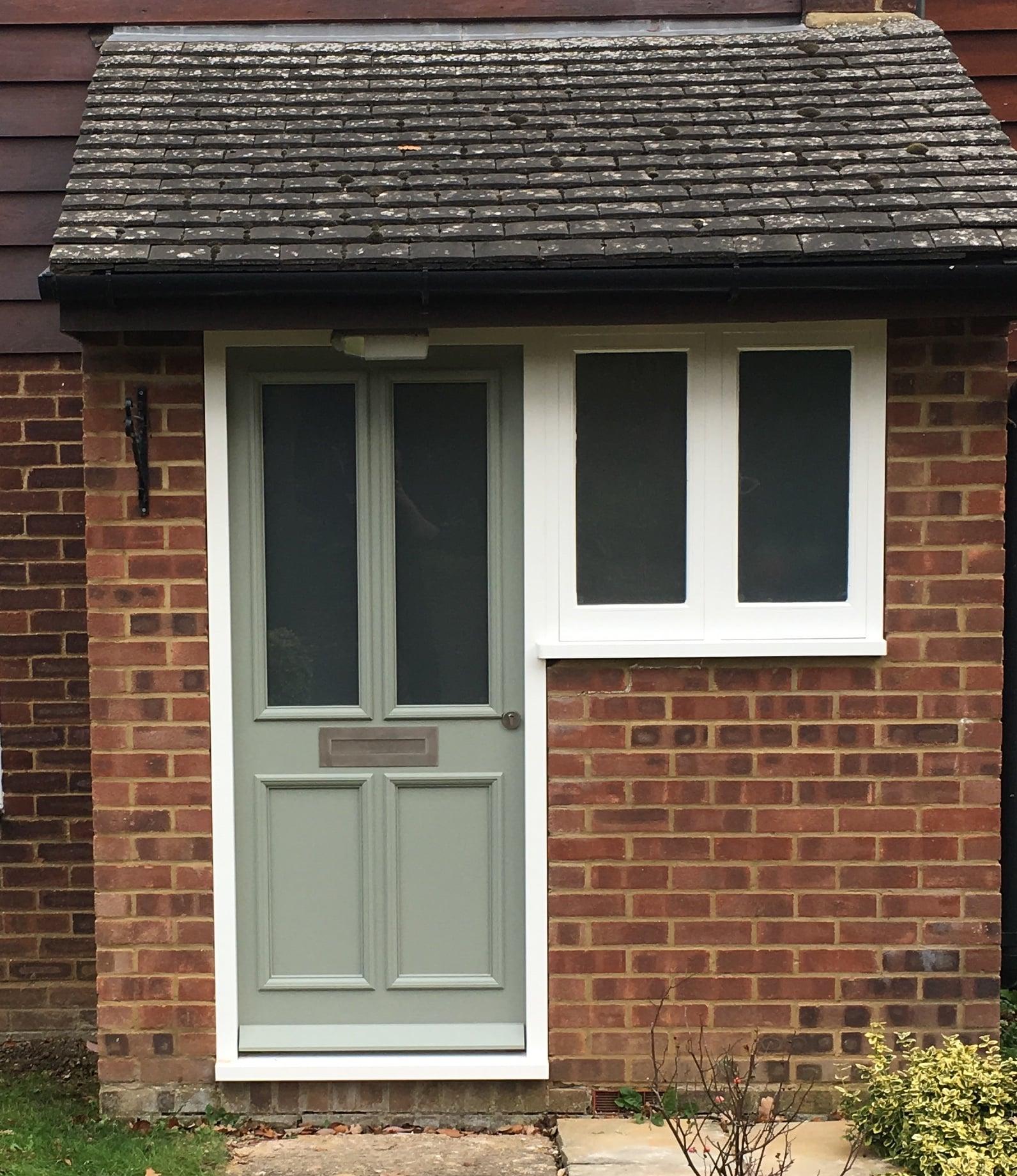 hardwood front door
