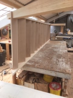 Purpose made oak tread staircase - Hertfordshire