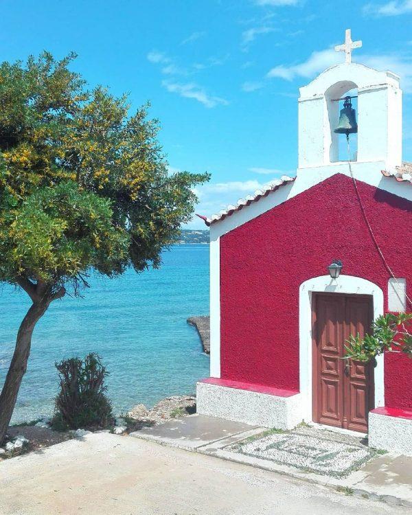 Spetses church, Saronic Gulf, Greece