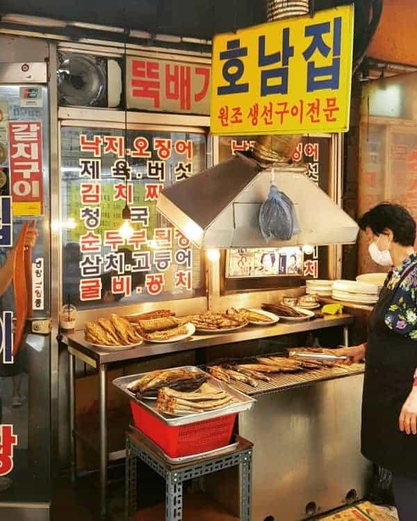 Grilled Fish Street, Dongdaemun