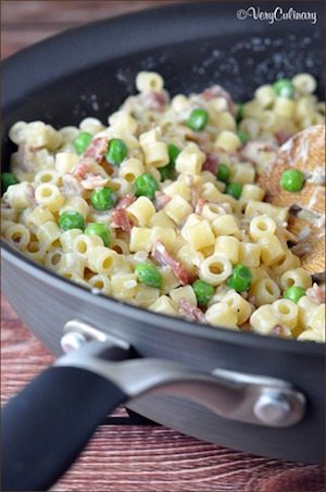 Creamy Pasta with Bacon and Peas - 30 Minute Back to School Meals