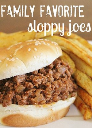 Sloppy Joes - 30 Minute Back to School Meals