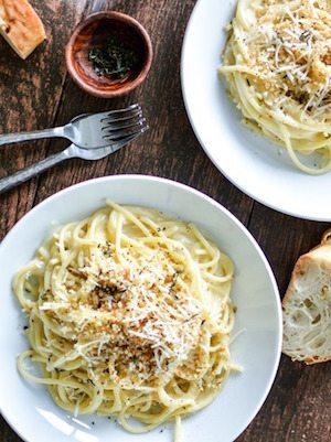 Cream Pecorino Spaghetti - 30 Minute Back to School Meals