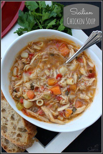 Sicilian Chicken Soup - Easy Meal Plan #14