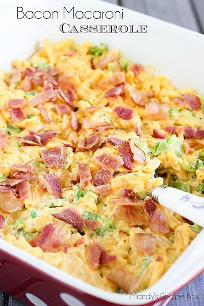 Bacon Macaroni Casserole - Easy Meal Plan #16