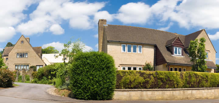 A house requiring a home insurance quote