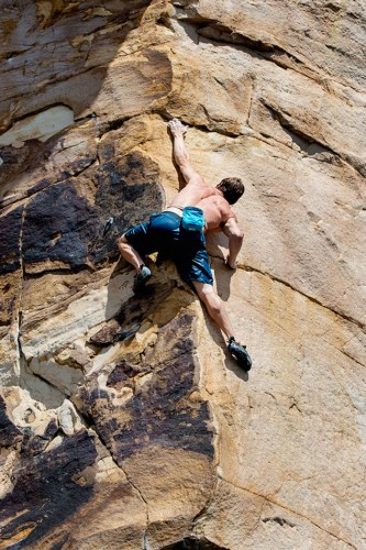 Climbing Competition at Summersville Lake