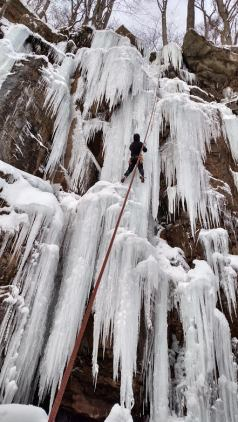 Ice Climbing in Confluence Pa