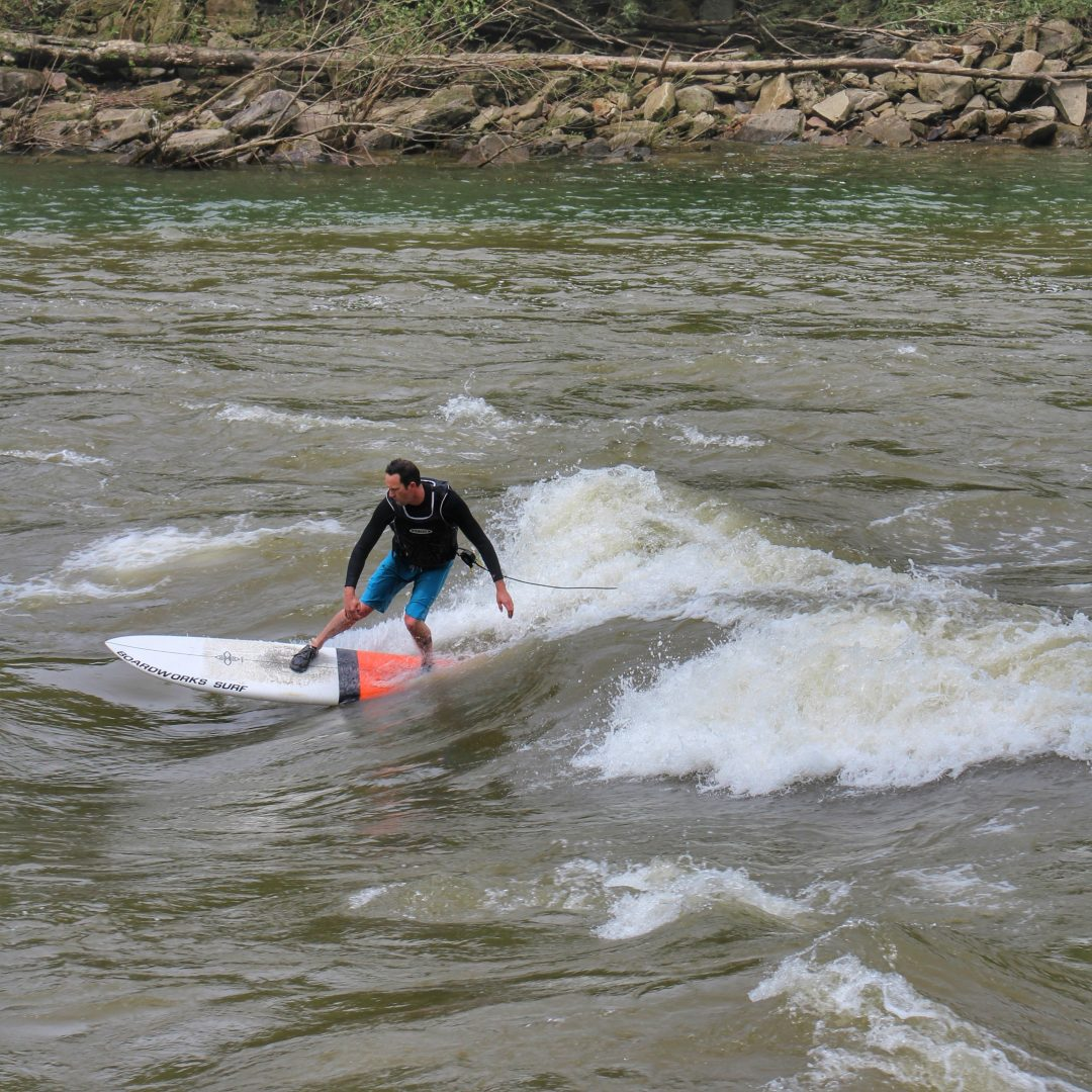 River Surfing in West Virginia