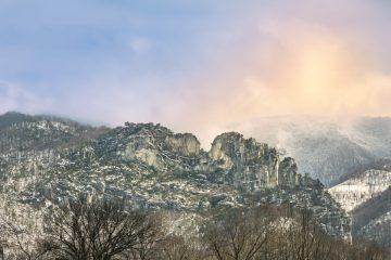Winter at Seneca Rocks