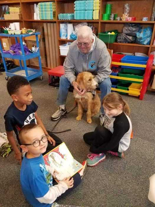 reading program with dog