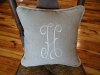 """H"" Monogram Pillow"