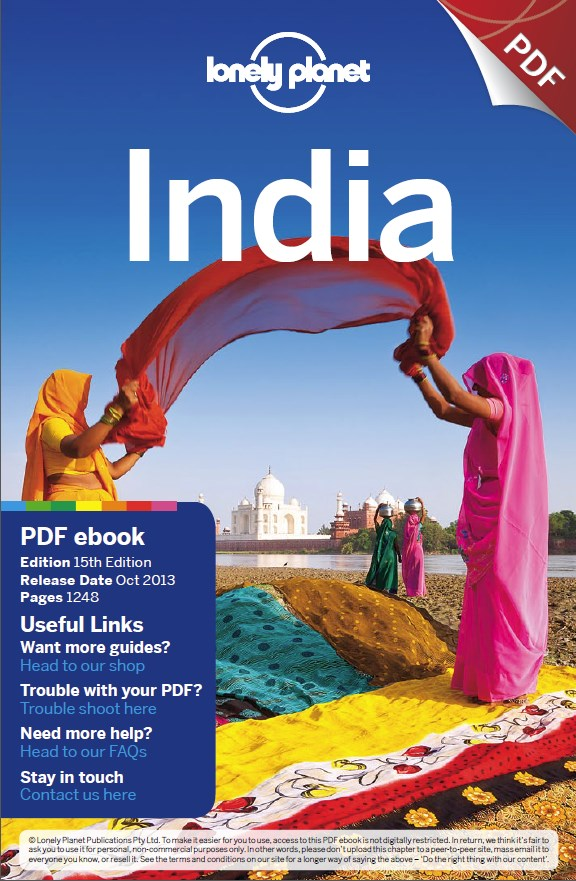 Lonely Planet India Book Cover