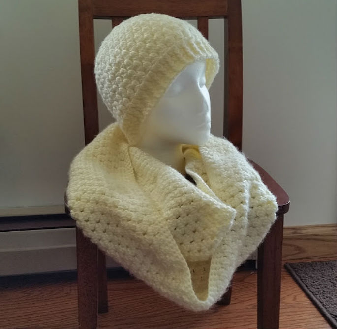 Cream Clusters Extra Long Infinity Scarf