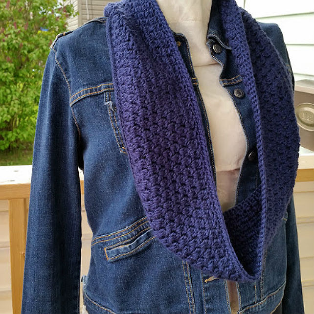 Navy Clusters Infinity Scarf