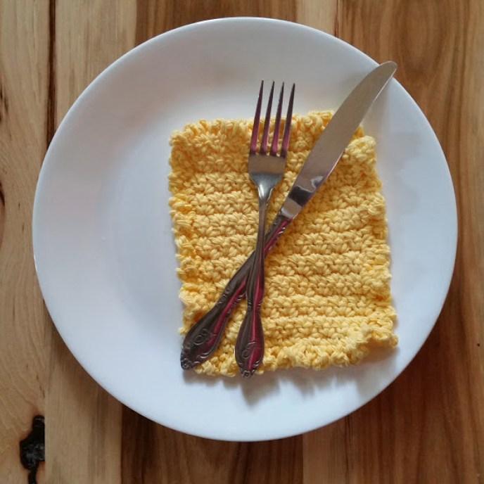 ruffle washcloth dishcloth crochet