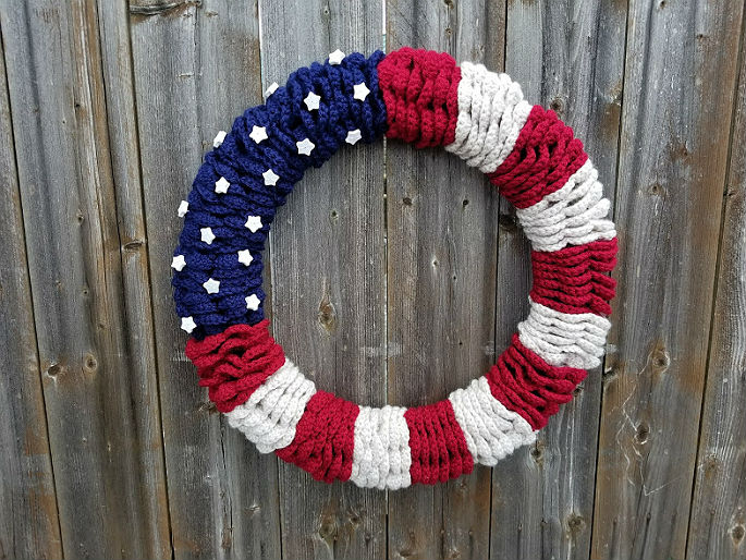 American Flag Wreath - Highland Hickory Designs