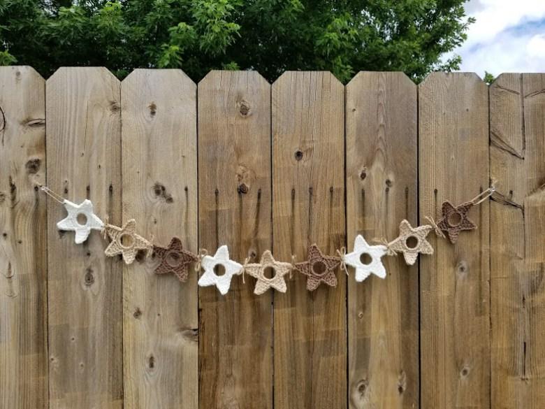 upcycled star garland